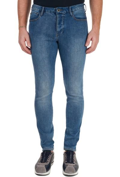 Emporio Armani Pamuklu Extra Slim Fit J11 Jeans Erkek Kot Pantolon 6H1J11 1Dpfz 0942