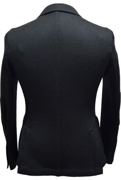 Yetkon Yünlü Kelebek Astar Örme Soft Siyah Ceket