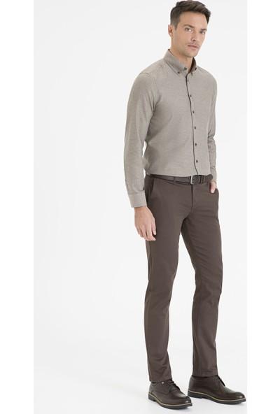 Pierre Cardin Kahverengi Slim Fit Chino Pantolon 50234043-VR029