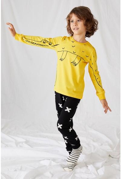 DeFacto Erkek Çocuk Baskılı Pijama Takım S3218A620AU