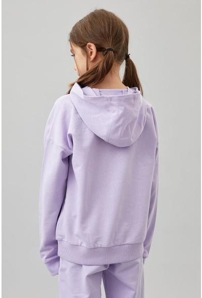 DeFacto Kız Çocuk Organik Pamuk Eşofman Altı ve Sweatshirt Takım S3445A620AU
