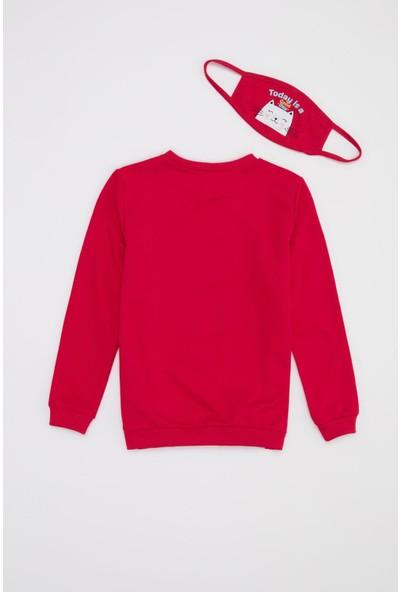DeFacto Kız Çocuk Baskılı Sweatshirt ve Maske Takım T1830A620WN