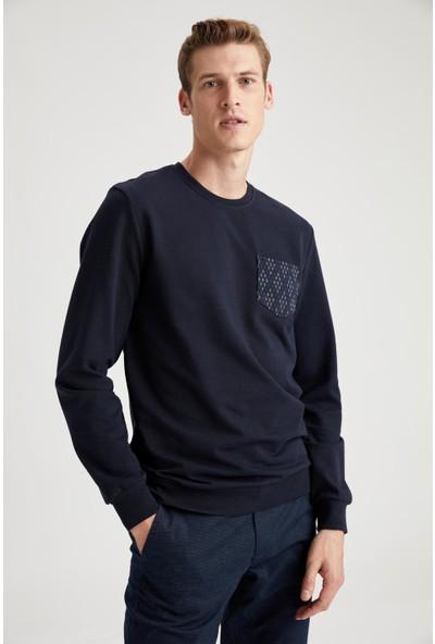 DeFacto Slim Fit Bisiklet Yaka Sweatshirt S9996AZ20WN