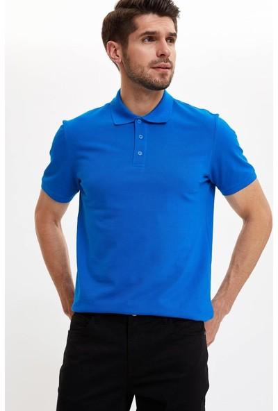 DeFacto Erkek Polo Yaka Regular Fit Basic T-Shirt