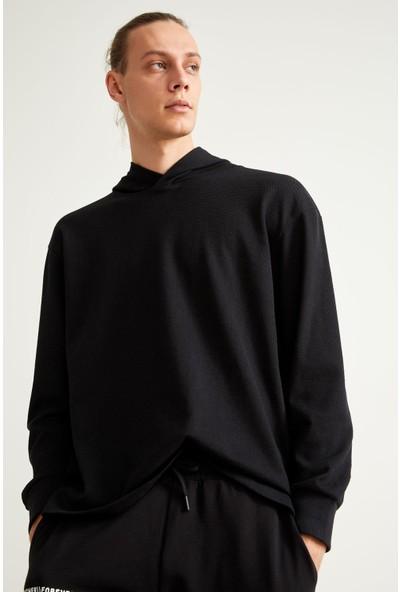 DeFacto Oversize Fit Kapüşonlu Basic Sweatshirt S7232AZ20AU