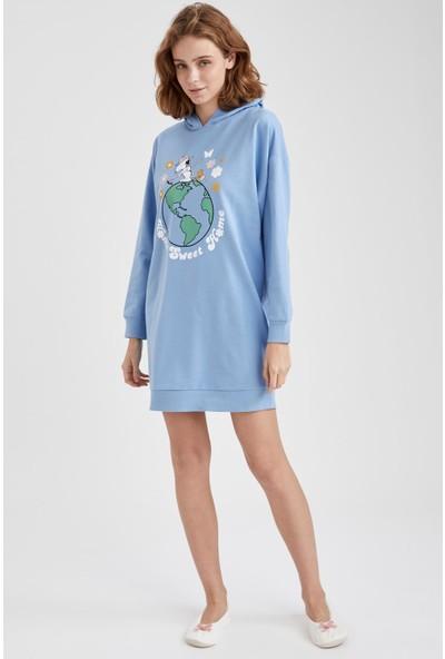 DeFacto Snoopy Lisanslı Kapüşonlu Sweatshirt S2066AZ20AU