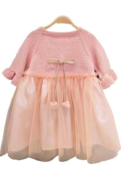 Pacco Baby El Örgüsü Pamuk Açık Yavruağzı Tütü Elbise