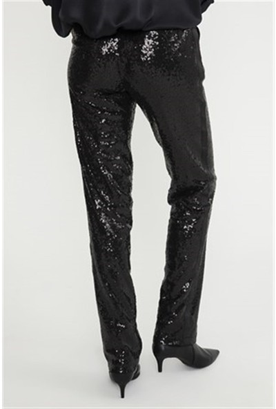 Jly 056 Siyah Payetli Pantolon