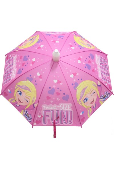 Rubenis Poly Pocket Lisanslı Çocuk Şemsiyesi Pembe