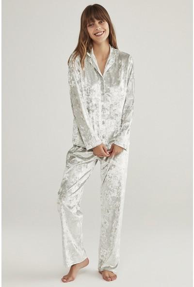 Penti Kadife Pijama Takımı