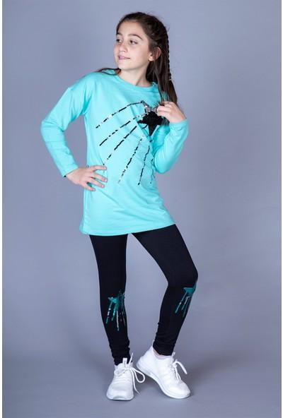 Toontoy Kız Çocuk Yıldız Pullu Takım