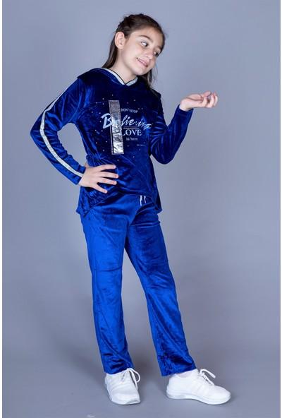Toontoy Kız Çocuk Kapüşonlu Kadife Takım