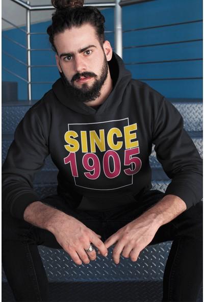 Siyah Gs Erkek Kapüşonlu Sweatshirt