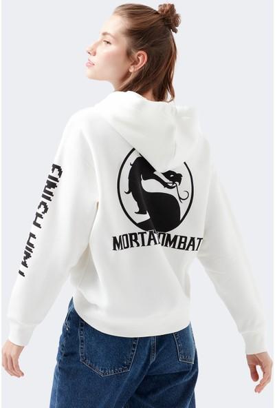 Mavi Kadın Mortal Kombat Baskılı Sweatshirt 1600395-32158