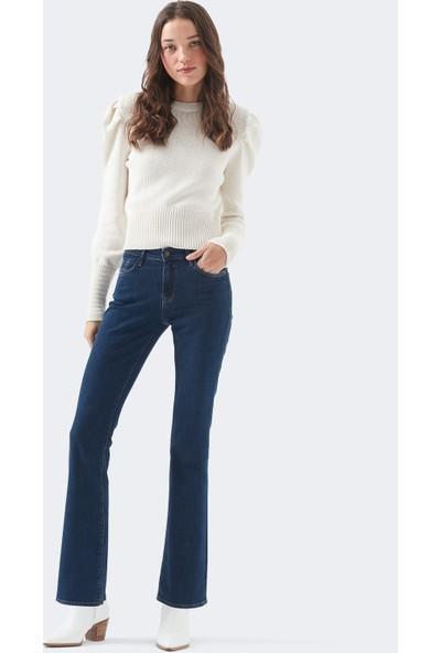 Molly Lacivert Jean Pantolon 1013633292