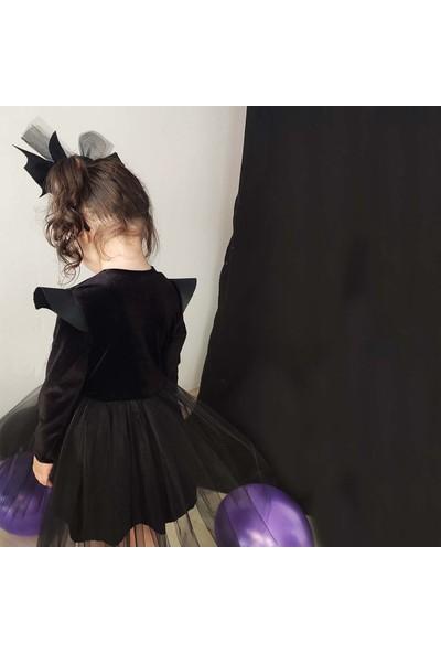 Shecco Babba Kız Çocuk Deri Detaylı Tütü Elbise Taç Takım
