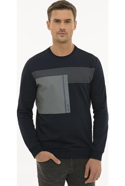 Pierre Cardin Lacivert Standart Fit Sweatshirt 50235438-VR033