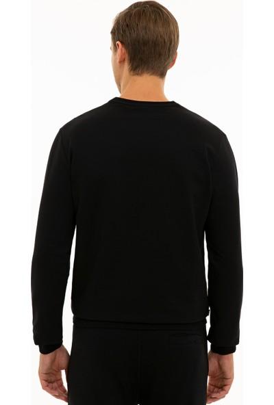Pierre Cardin Siyah Standart Fit Sweatshirt 50235439-VR046