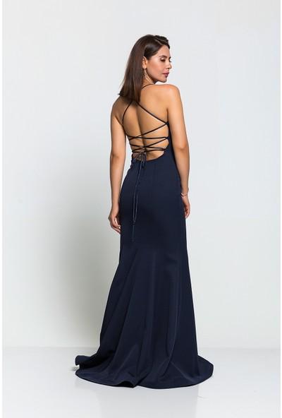 Airlife Sırtı Bağcıklı Krep Balık Kesim Elbise