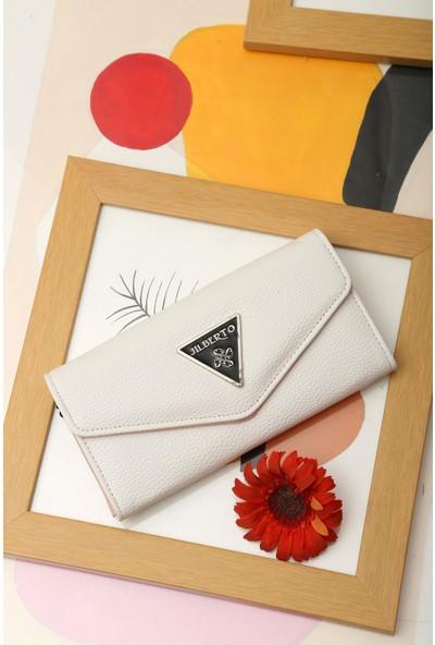 Limoya Ariya Beyaz Zarf Cüzdan