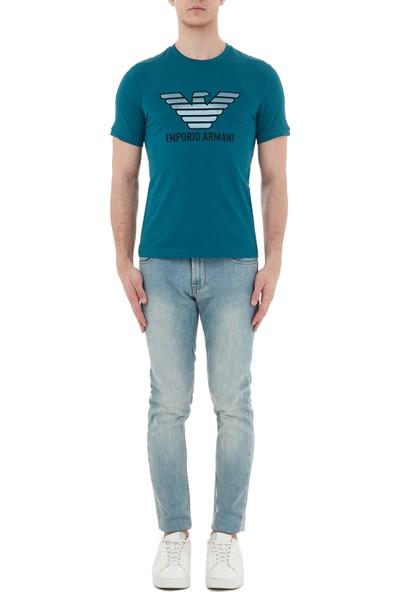Emporio Armani Pamuklu Dar Kesim J06 Jeans Erkek Kot Pantolon 3H1J06 1dlrz 0943
