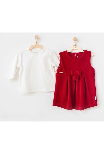 Andywawa Yeni Yıl Kadife Bebek Elbise Takımı AC21234