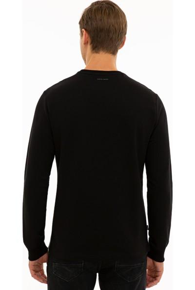 Pierre Cardin Erkek Siyah Regular Fit Sweatshirt 50235437-Vr046
