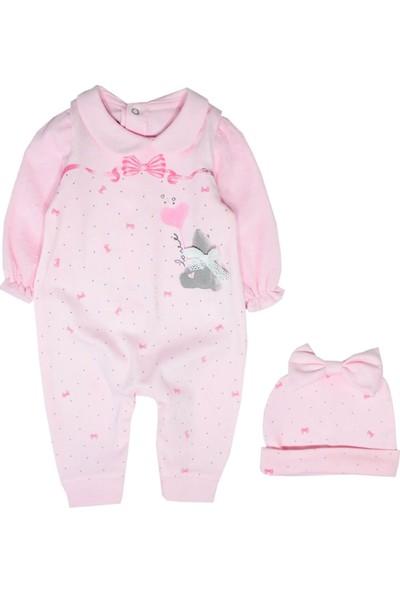 Tongs Kurdaleli Kız Bebek Tulum Şapka Takım
