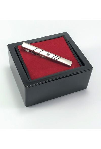 Pierroni Kravat İğnesi Taşlı Model Kutulu