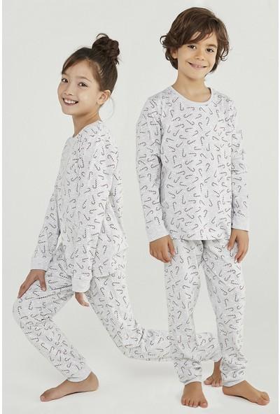 Penti Renkli Unisex Candy Cane Gıft 2li Pijama Takımı