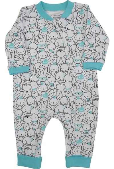 Albimini Tavşan Desenli Erkek Bebek Tulum