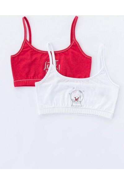Penti Kırmızı - Beyaz Teen Ny 2'li Yarım Atlet