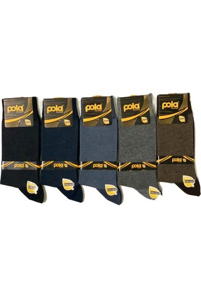 Pola Erkek Modal Çorap 12'li Hasat Model 1512