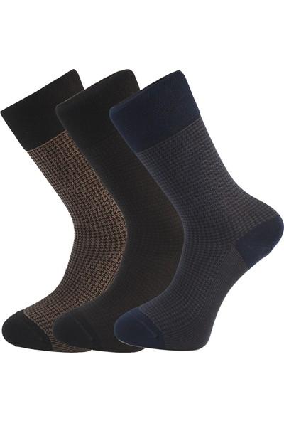 Esgue 3 Lü Bambu & Merserize Çorap