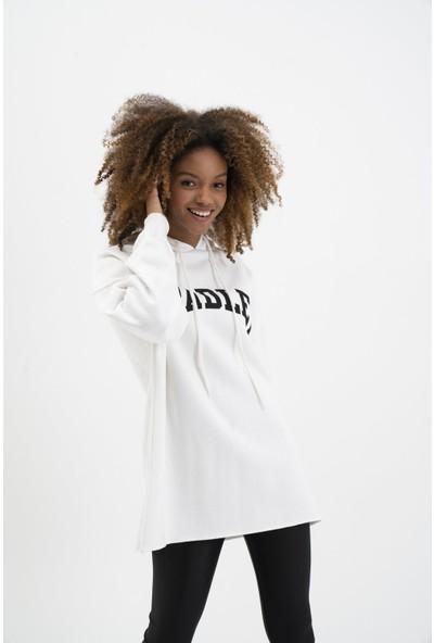 Loukai Oversize Baskılı Sweatshirt