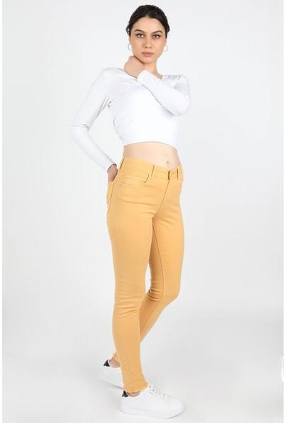 Balins Gabardin Pantolon Sarı