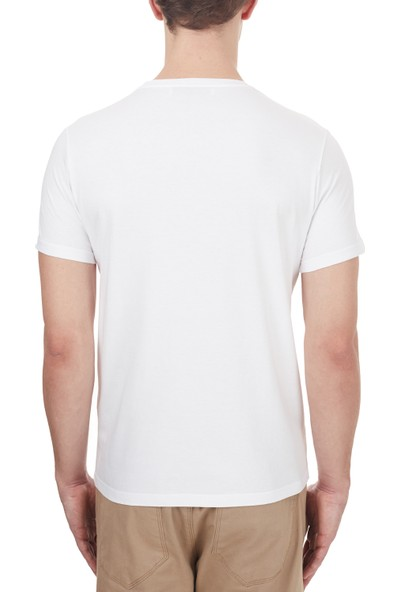 Etro % 100 Pamuklu Baskılı Bisiklet Yaka T Shirt Erkek T Shirt 1Y020 9759 0990 Beyaz L