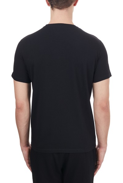 Etro% 100 Pamuklu Bisiklet Yaka T Shirt Erkek T Shirt 1Y020 97590 001 Siyah XL