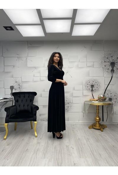 Gökmen Kotan Kadife Elbise Siyah