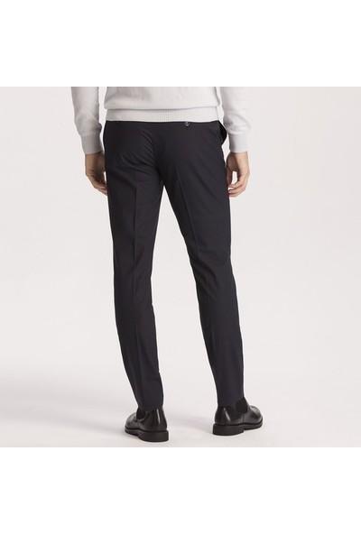 Hateko Süper Dar Kesim Lacivert Kumaş Pantolon