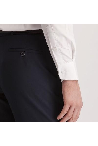 Hateko Klasik Kesim Lacivert Mat Kumaş Pantolon