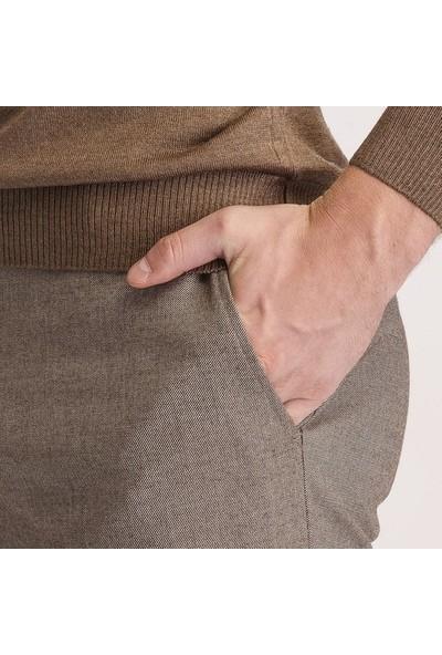Hateko Dar Kesim Sütlü Kahverengi Kışlık Pantolon