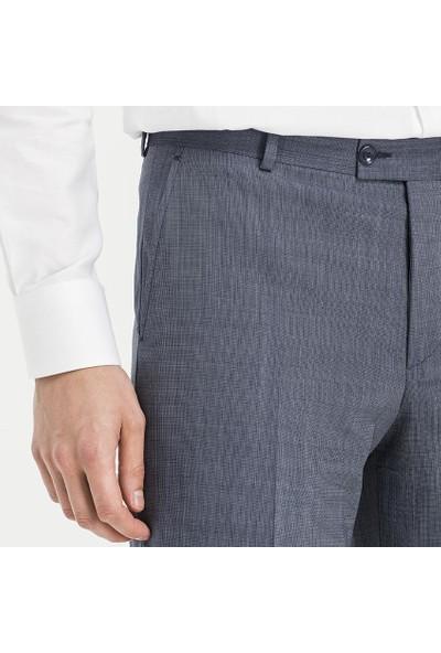 Hateko Klasik Kesim Filafil Açık Mavi Yün Kumaş Pantolon