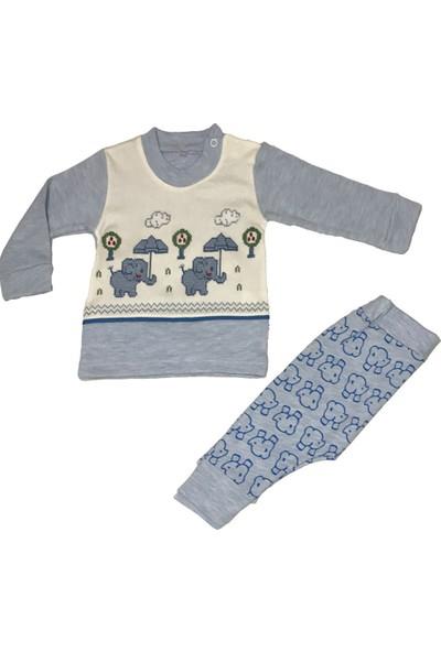 Mini Bird Fil Kaneviçeli Bebek Pijama Takımı