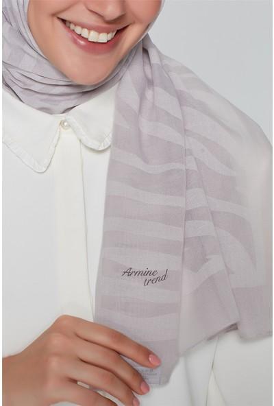 Armine Trend Polyester Şal 00Oa0444 A.Gri