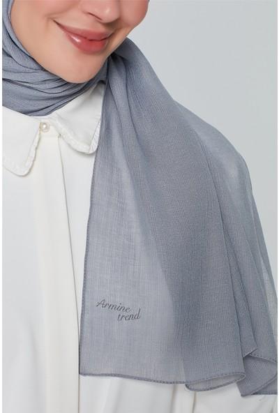 Armine Trend Polyester Şal 00Oa0444 Gri