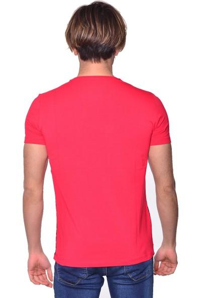 Icb London Çizgili Bisiklet Yaka Erkek Tshirt S73-7724 R06