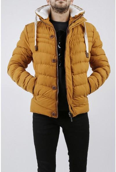 Xhan Hardal Kapüşonlu Comfort Slim Fit Şişme Mont 0YXE4-44076-37