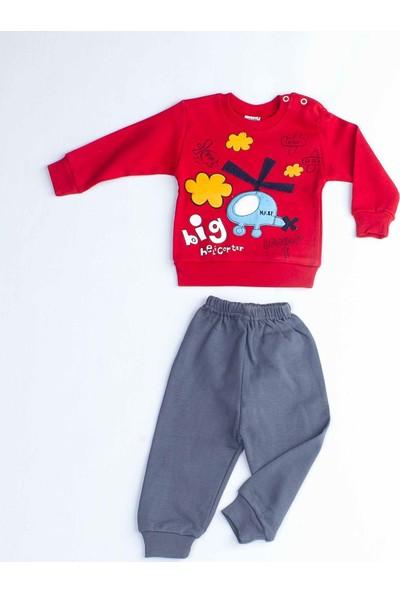Modakids Kırmızı Erkek Bebek 2 Li Takım