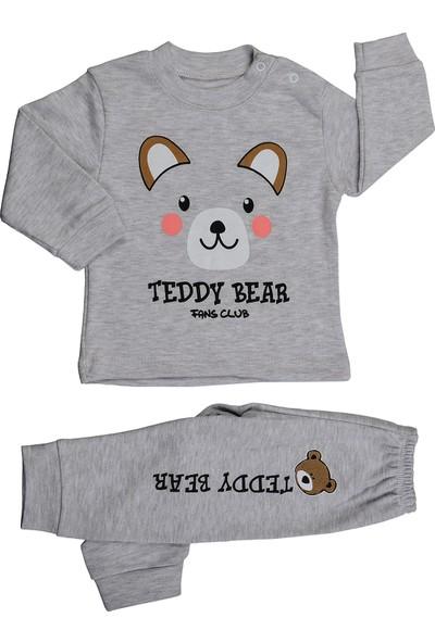 Bebeemm Badekids 6731 Ayıcık Kız Çocuk Pijama Takım 3-12 Ay